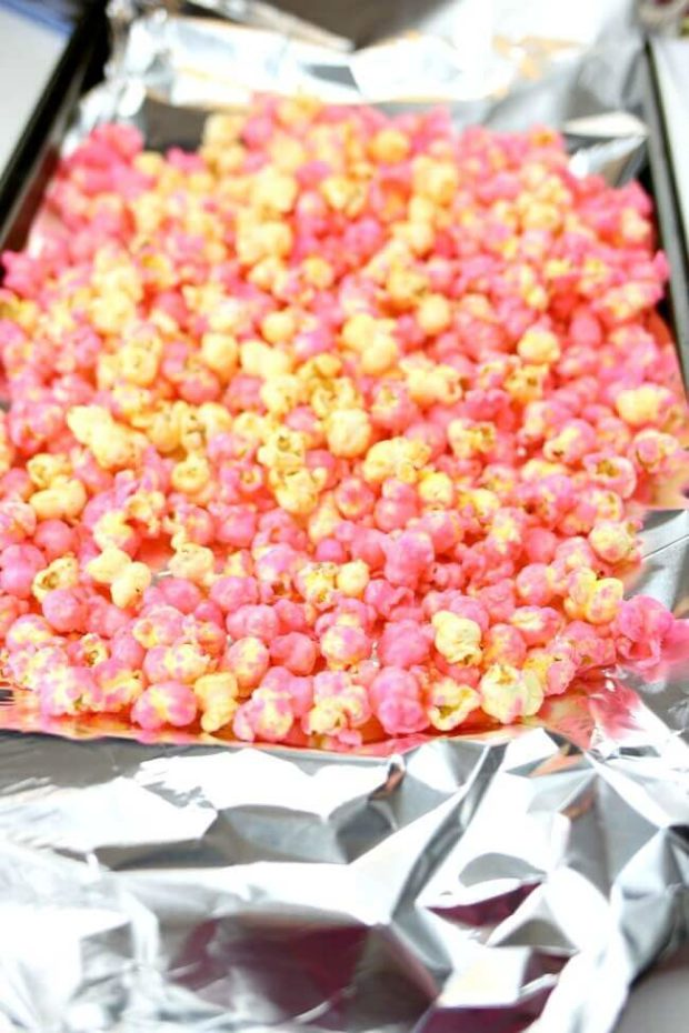 How to Make Pink Popcorn without a Candy Thermometer