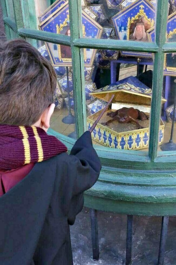 Interactive Wand at Wizarding World of Harry Potter