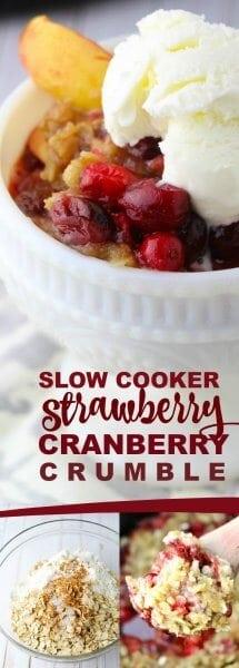 Strawberry Cranberry Crockpot Crumble