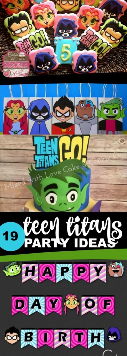 Teen Titans Go birthday party ideas, food, games, activities, favors, crafts, invitations and more
