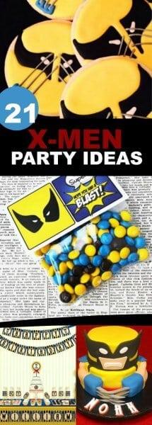 X-MEN BIRTHDAY PARTY IDEAS FOR BOYS
