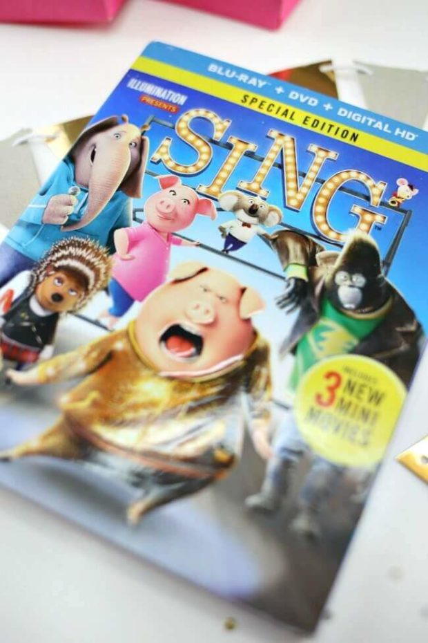 SING Movie on DVD and Blu-Ray