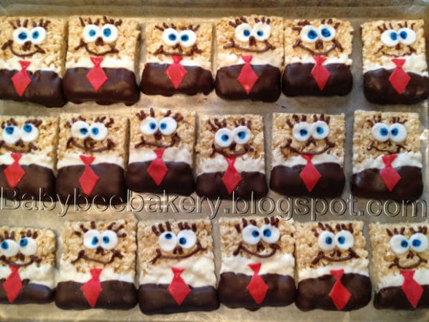 Spongebob Rice Crispy Treats