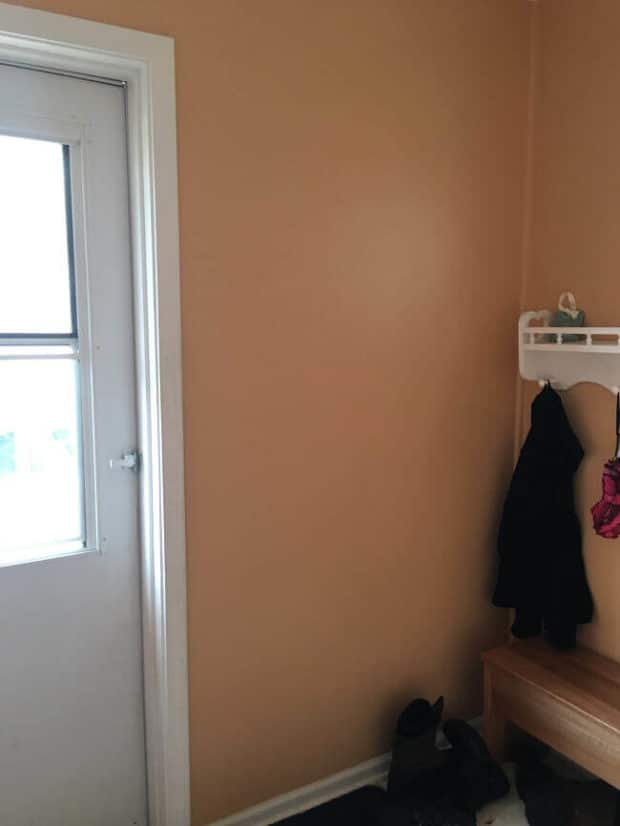 Before DIY Mudroom Makeover