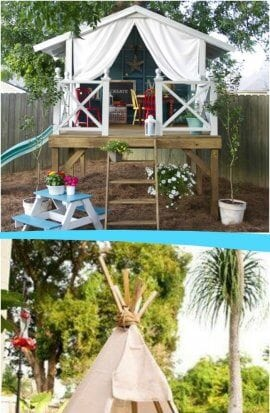 Backyards designed for entertaining kids
