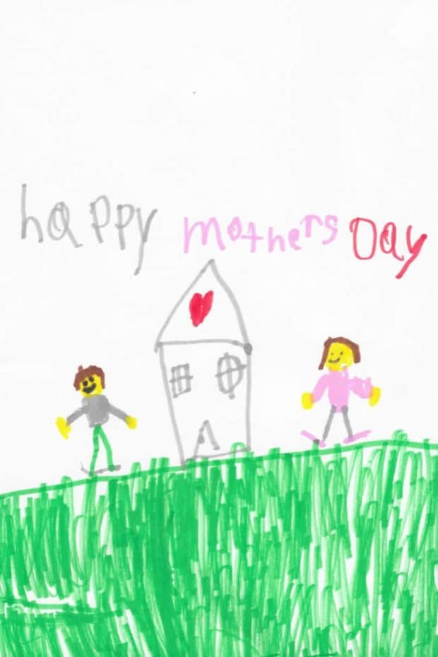 Kid's Artwork for Mother's Day