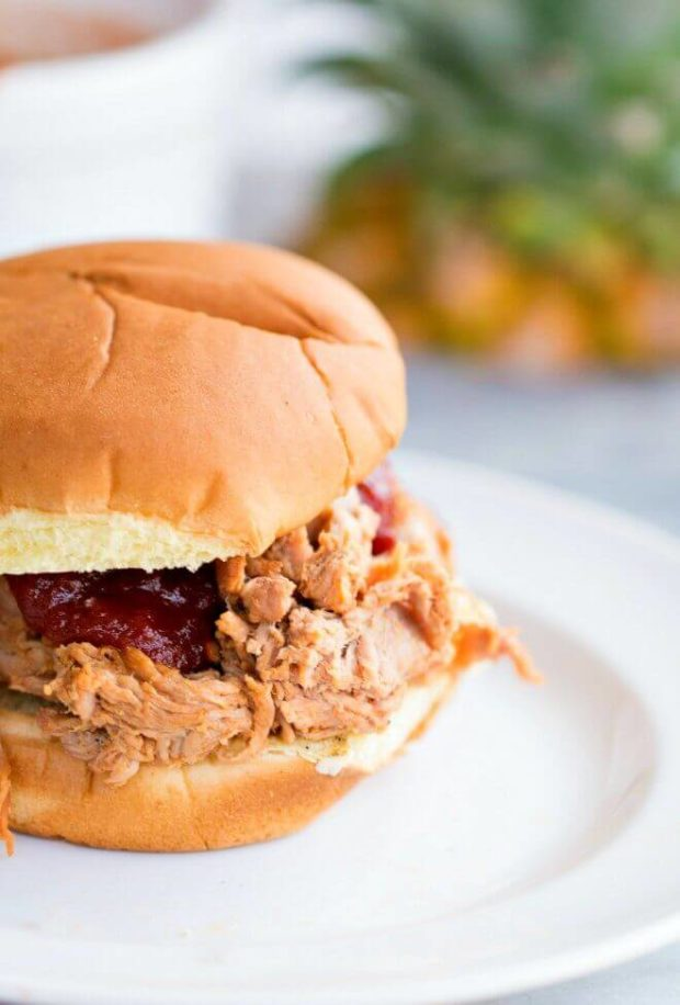 for friendly get-togethers and this Hawaiian BBQ Pulled Pork Sandwich ...