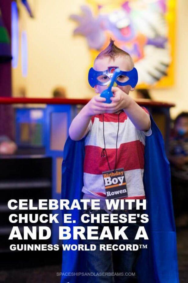 Celebrate with Chuck E Cheese + Break a World Record