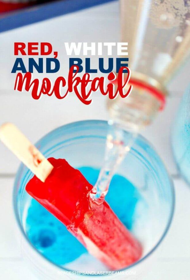 Red, White and Blue Mocktail