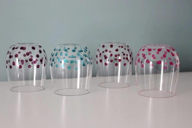 Polka Dot DIY Wineglasses