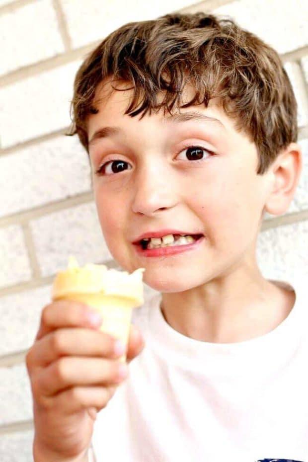 Eating Ice Cream in Summer
