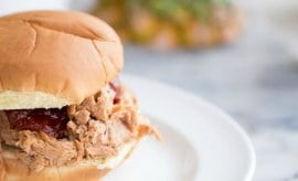 Hawaiian BBQ Pulled Pork Sandwiches