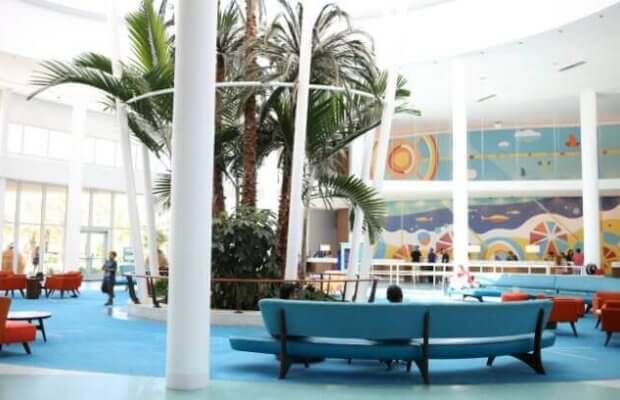 Lobby at Cabana Bay Beach Resort Universal Studios Florida