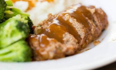 Easy Dinner Ideas: Meatloaf, Parmesan Mashed Potatoes + Lemon Garlic Broccoli