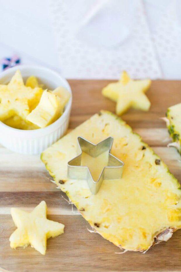 Pineapple Stars for Memorial Day Mocktail