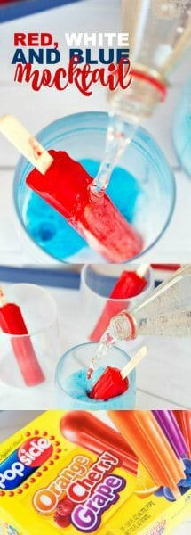 Red, White and Blue Memorial Day Mocktail Recipe