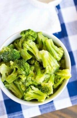 Easy Steamed Lemon Garlic Broccoli