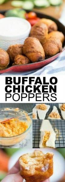 Buffalo Chicken Poppers