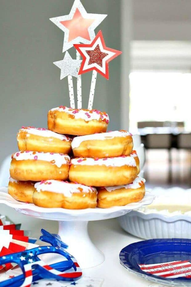 Dunkin Donuts Cake for 4th of July