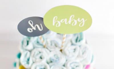 Modern Diaper Cake Ideas