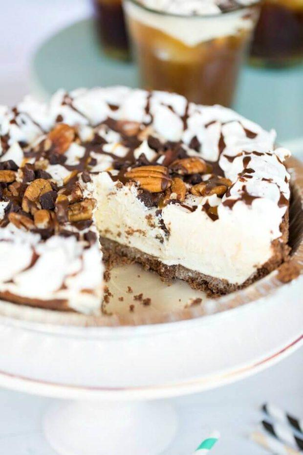 Frozen Turtle Pie Dessert