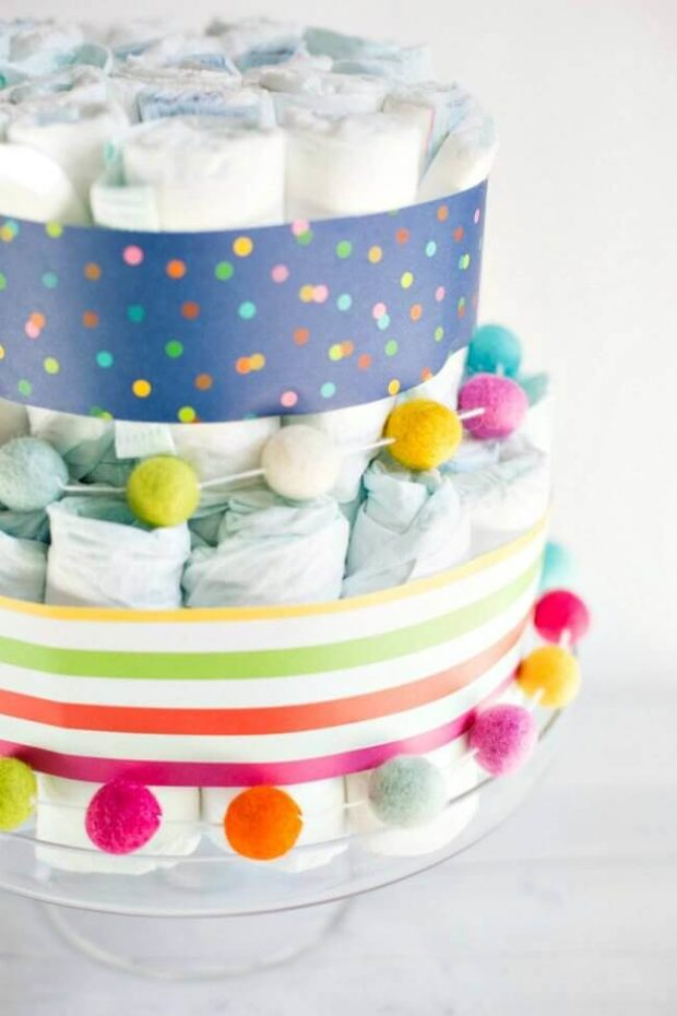Ideas for Diaper Cakes