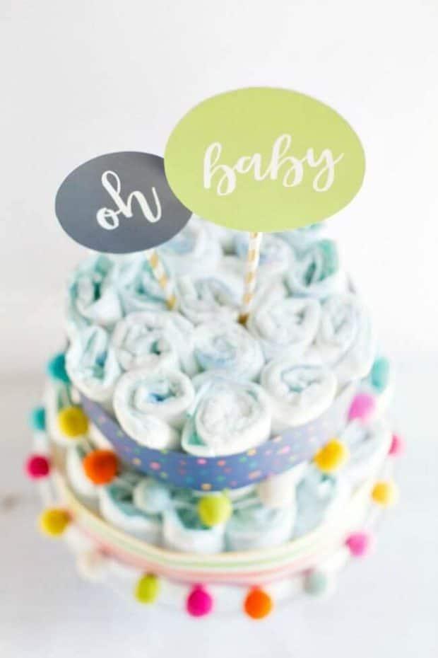 Modern Diaper Cake Ideas