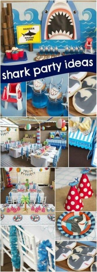 Shark Themed Boys Birthday Party Ideas