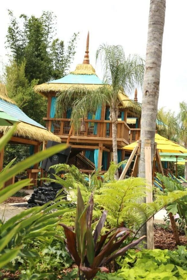 Two Storey Cabanas at Volcano Bay