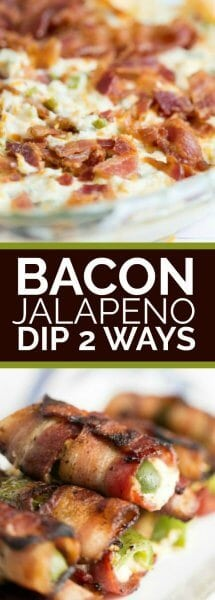Bacon Wrapped Jalapeno Dip 2 Ways