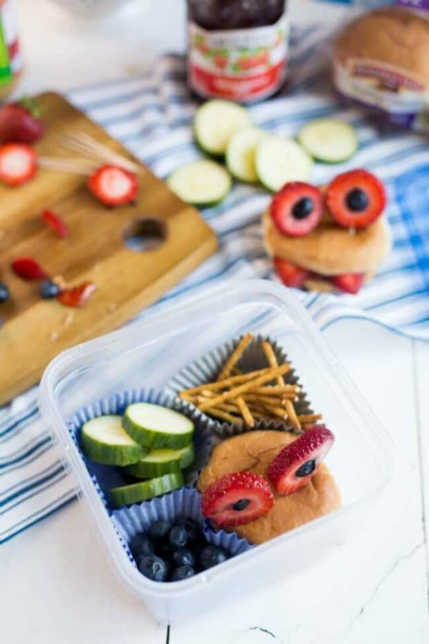 Monster Bento Box School Lunch Idea