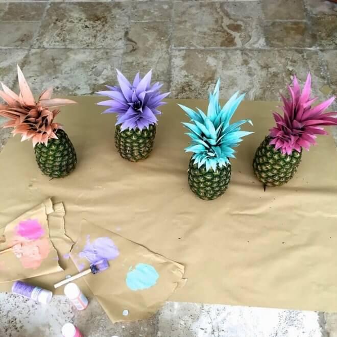 Painted Pineapple Luau Decorations