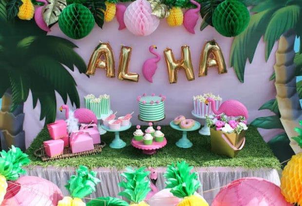 Aloha Lets Flamigle Luau Party