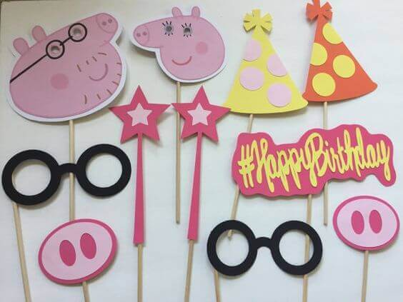 peppa Pig Photo Booth Props