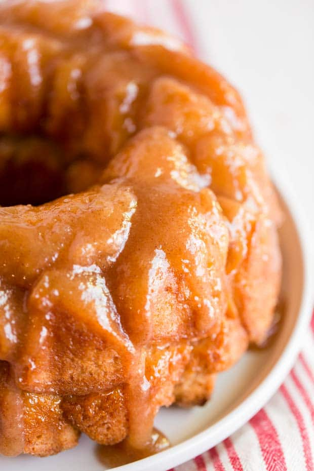 monkey bread made in bundt pan