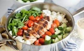 One Pan Greek Chicken Dinner