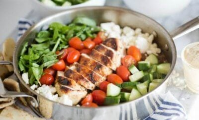One Pan Greek Chicken Dinner