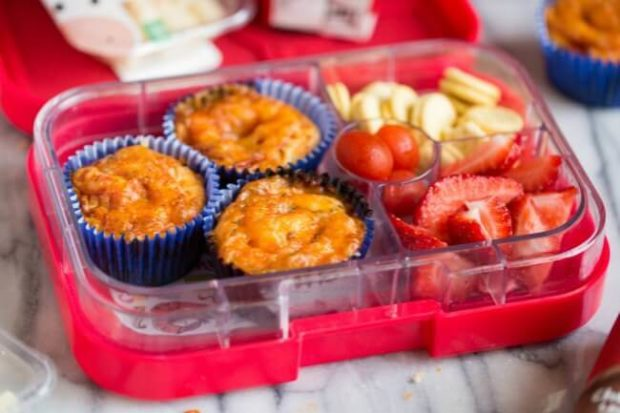 School Lunch Pizza Muffins