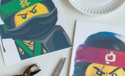 DIY LEGO NINJAGO Movie Character Masks
