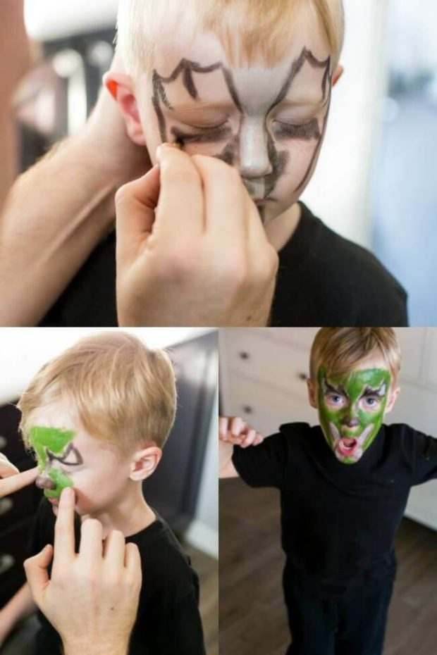 Dragon Make Up for Family Costume