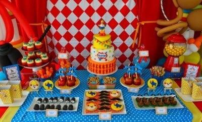 Boys Circus Themed Birthday Party