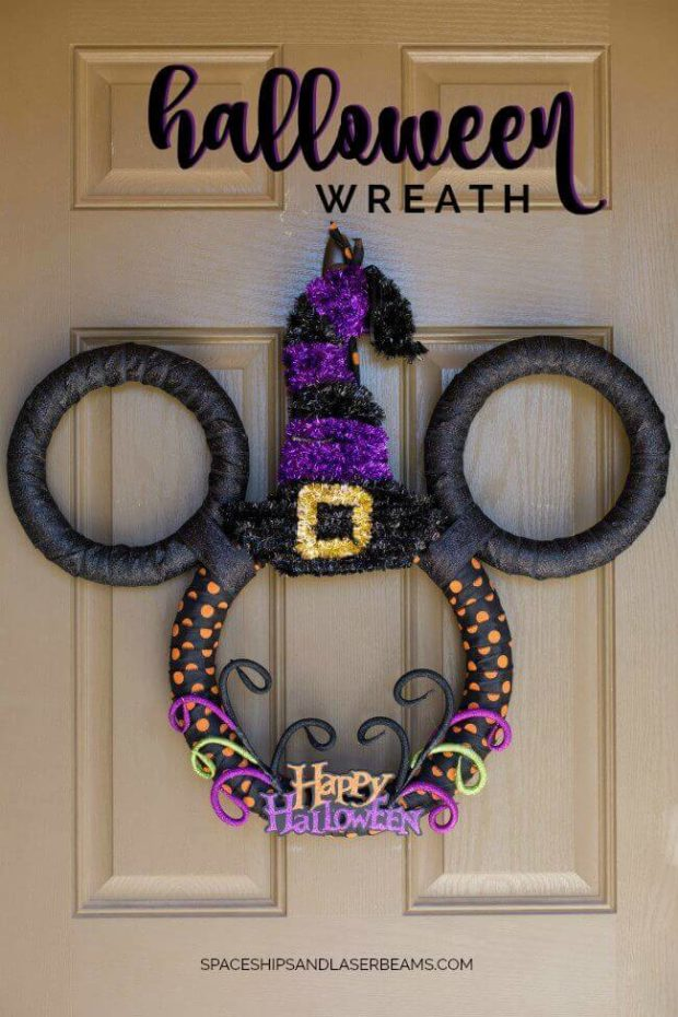 Welcome Fall Scents A Diy Halloween Wreath Spaceships