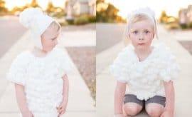 DIY Baby Lamb Halloween Costume