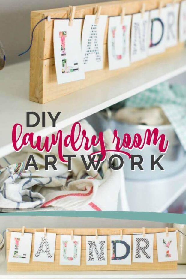 DIY Laundry Room Artwork
