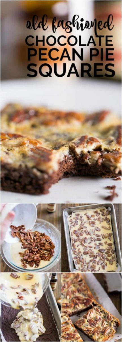 Old Fashioned Chocolate Pecan Pie Squares