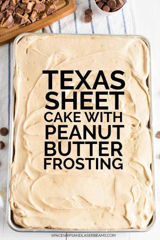 Texas Sheet Cake with Peanut Butter Frosting