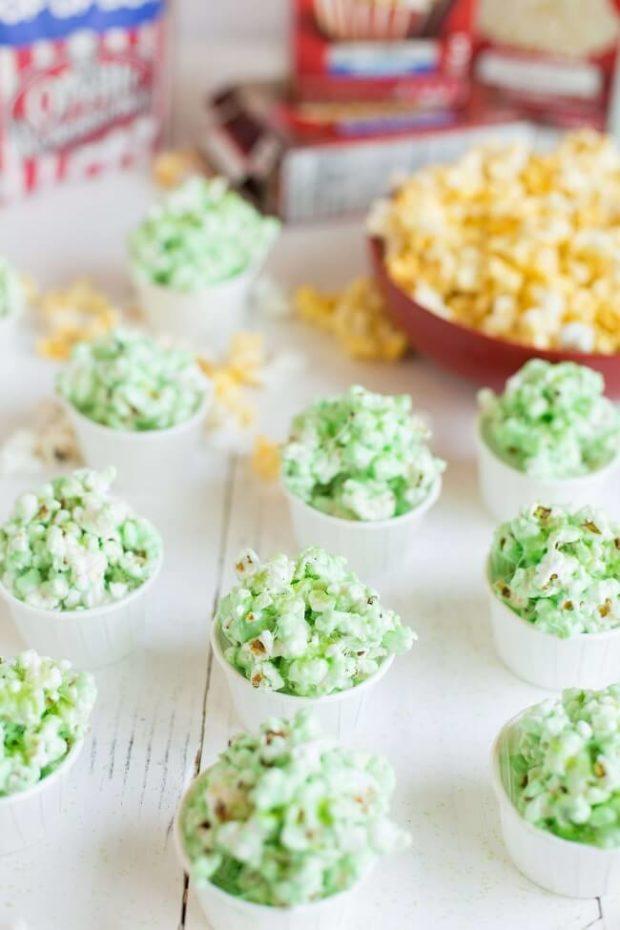 Easy Aquaman Inspired Popcorn Balls