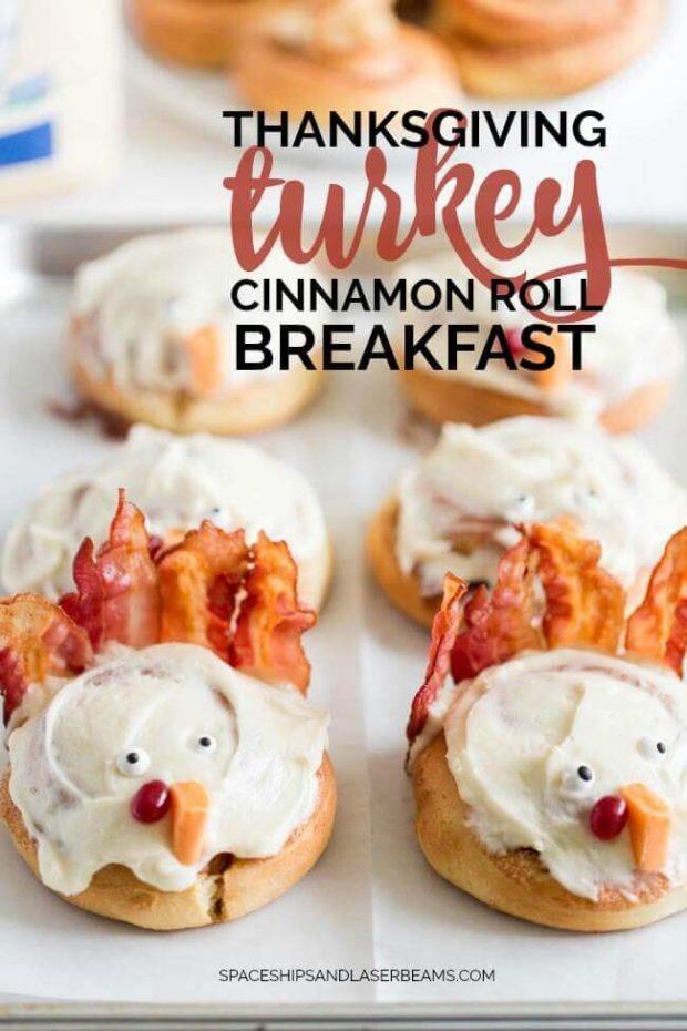 Thanksgiving Turkey Cinnamon Rolls