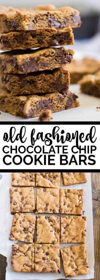 Old Fashioned Chocolate Chip Cookie Bars