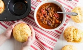 Hearty Chili and Cornbread Muffins